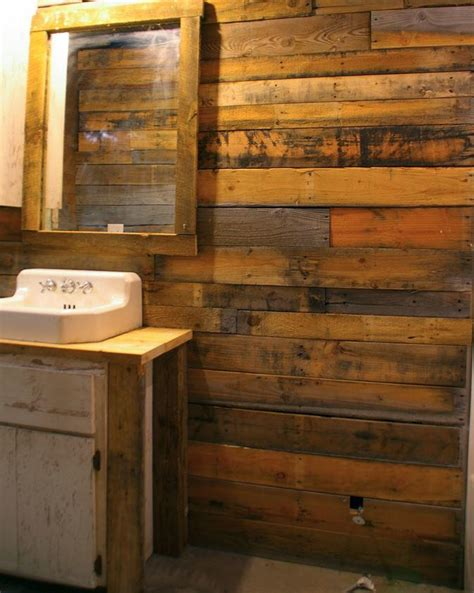 covering walls  pallet wood diyideacentercom