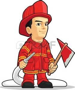 Cartoon Firefighter Boy
