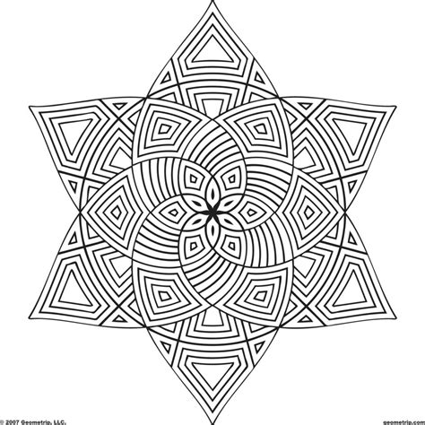 Geometric Design Coloring Pages Coloring Pages Geometric Design Quot Colouring Pages
