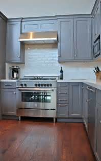 Blue Gray Kitchen with White Cabinets