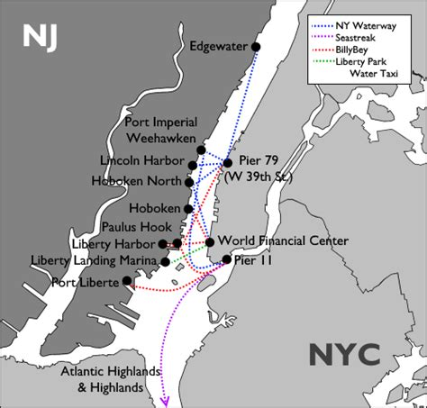Ferry Boat Nj To Nyc by How To Get From New Jersey To New York