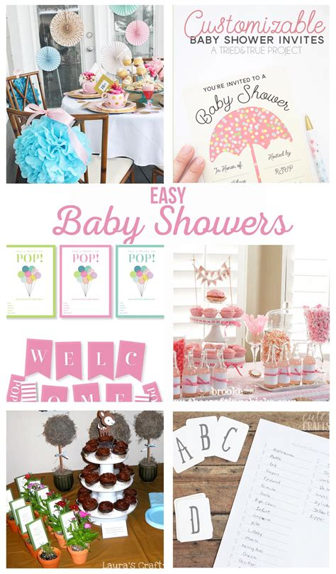 simple baby shower themes easy baby shower ideas the crafting chicks