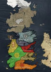 Seven Kingdoms Westeros Map