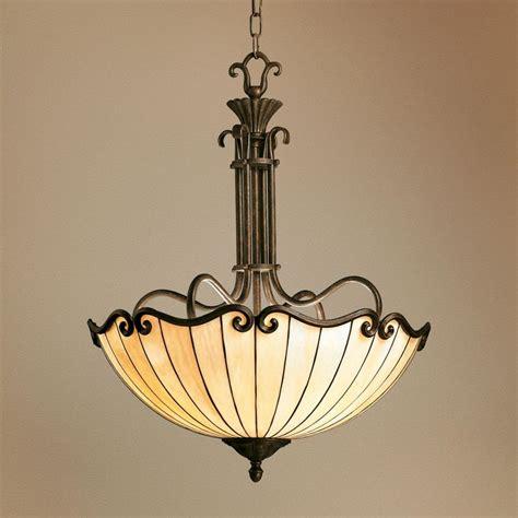 art nouveau tiffany style bowl chandelier lighting