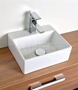 Waschtisch Mit Aufsatzbecken : design waschtisch aufsatzbecken quadro wei 33 5 x 29cm mit nano beschichtung ~ Watch28wear.com Haus und Dekorationen