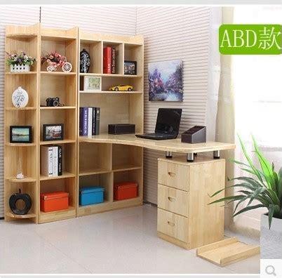 bois bureau d 39 ordinateur avec combinaison bibliothèque de