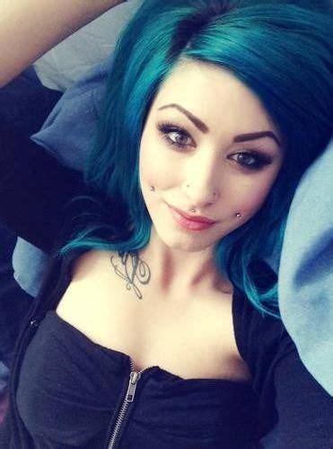 Cheeks Piercings Girls Cheek Piercings And Hair Color
