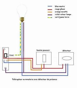 branchement lumiere exterieur avec detecteur conception With comment installer un projecteur exterieur 13 schema electrique brancher un interrupteur simple