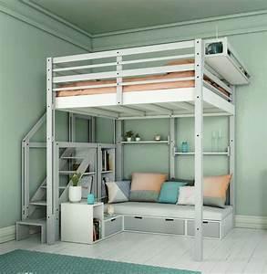 Lit 1 Place Mezzanine : lits mezzanines modulable ~ Melissatoandfro.com Idées de Décoration