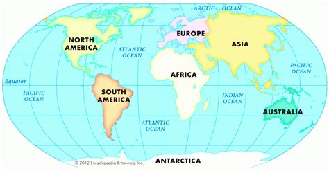 world map  continents  countries  travel