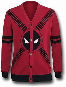 Deadpool Symbol And Straps Men 39 S Cardigan Small Red At