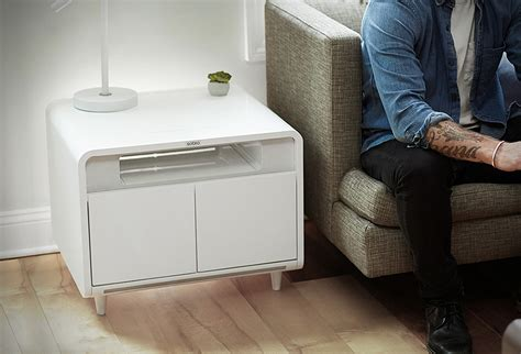 Sobro coffee table charges phones plays tracks and chills. furniture - living - Page - 1
