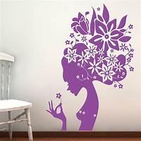 great flower wall decals flower girl wall stickers parkins interiors notonthehighstreet flowers sticker garden galore ...