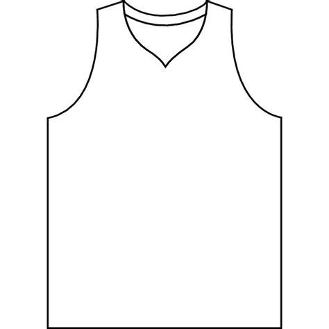 basketball jersey vector outline   vectorportal