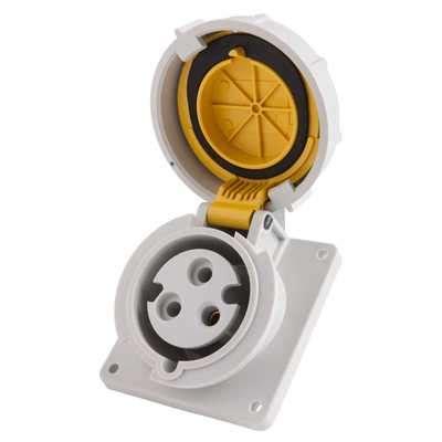 Mobile Mounting Socket 32a 2p mennekes 32a 2p e 110v panel mounted socket ip67 1501 cef