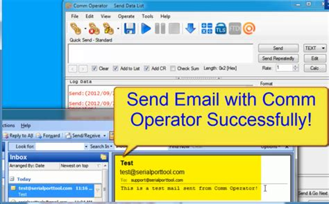 test smtp test smtp protocol with comm operator
