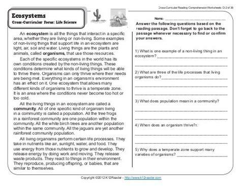 4th Grade Reading Comprehension Worksheets  Fourth Grade