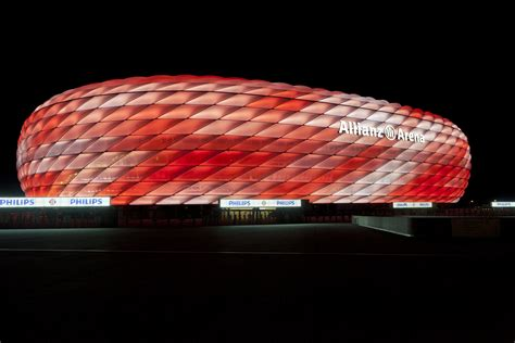 connected philips led lighting   allianz arena fc