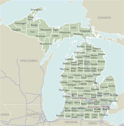 Michigan County Zip Code Wall Maps