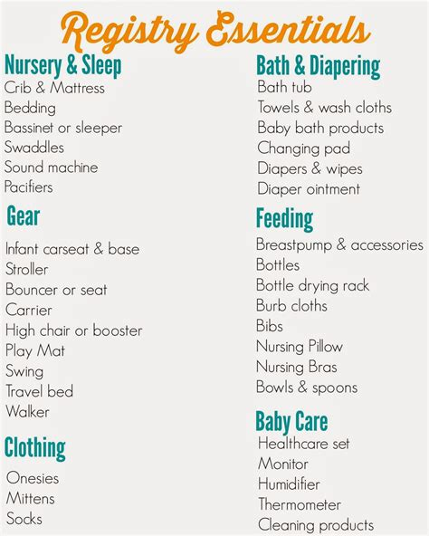 bed bath beyond baby registry the ultimate registry checklist the chirping