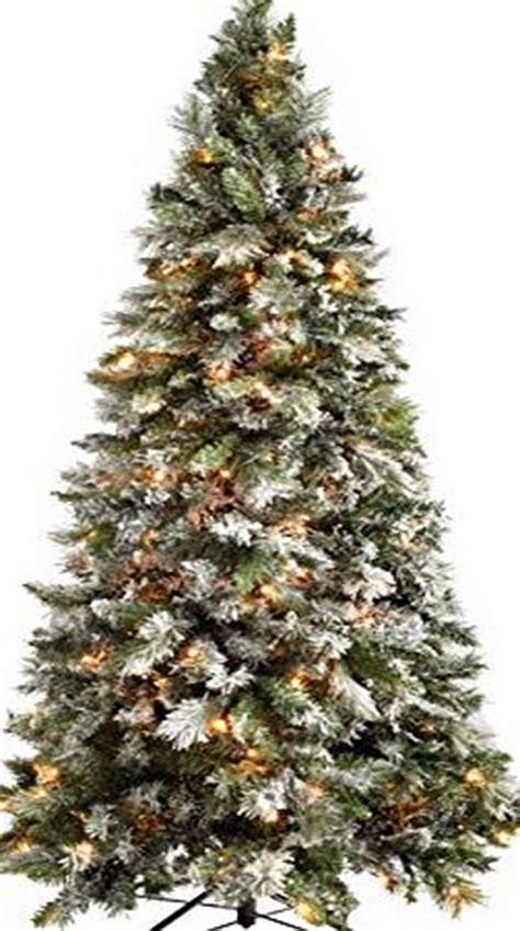 8 ft flocked slim christmas tree pre lit trees