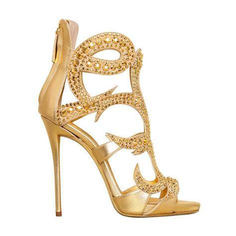mancuello black gold elegant crystal high heels party