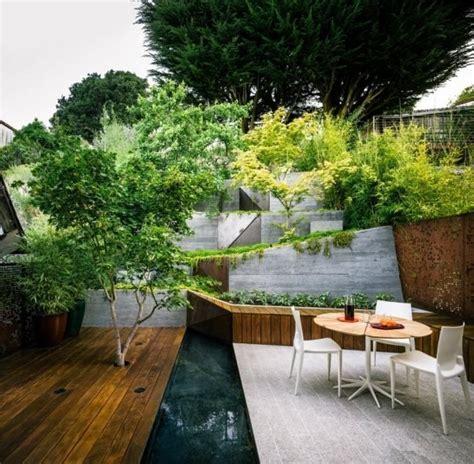 Japanischer Garten Hanglage by Gartengestaltung Hanglage Terrasse Japanischer Ahorn Baum