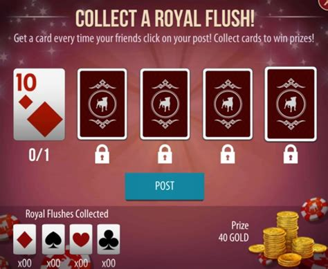 poker zynga chips completing flush hands extra royal