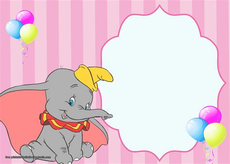 dumbo birthday invitation templates bagvania