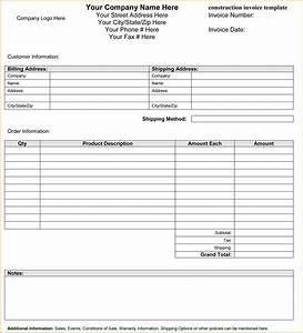 sample construction invoice word format hardhostinfo With construction invoice excel