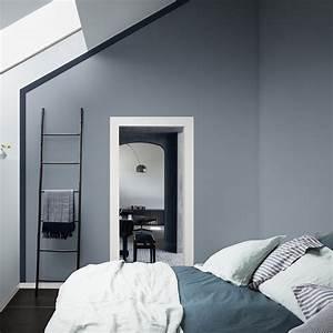 Chambre Gris Et Bleu : bleu gris couleur de l 39 ann e 2017 pour dulux valentine ~ Melissatoandfro.com Idées de Décoration