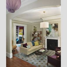Purple And Beige Living Room  Contemporary  Living Room