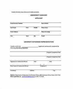 8 sample sign off form templates pdf sample templates With documents sign off