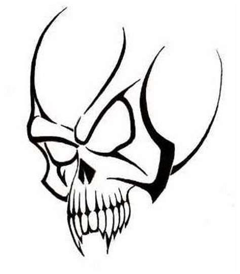 Scary Skull Tattoos Tribal Tattoo Design Idea