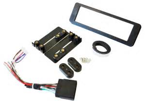 Single Din Radio Stereo Dash Kit With Wiring Harness Fits