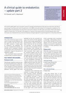 Pdf  A Clinical Guide To Endodontics