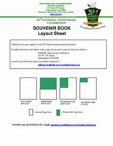 7 best images of souvenir book layout template church With souvenir ad book template