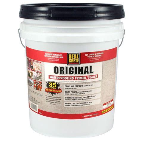 waterproof floor sealer seal krete 5 gal original waterproofing sealer 100005 the home depot