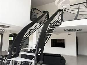 Garde Corps Contemporain : escalier design graphique la stylique ~ Melissatoandfro.com Idées de Décoration
