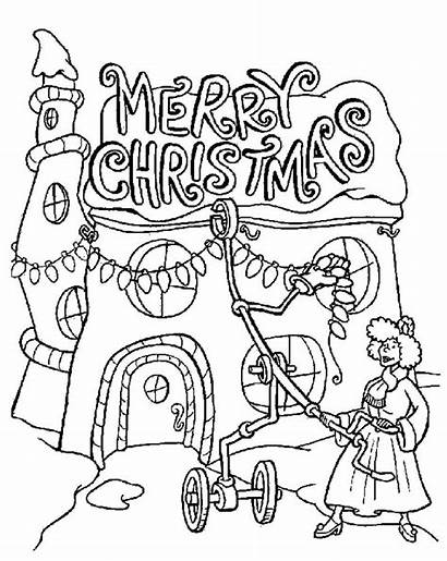 Coloring Pages Christmas Grinch Printable Merry Dog