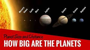 How Big Are Our Planets