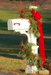 Mailbox swags on Pinterest