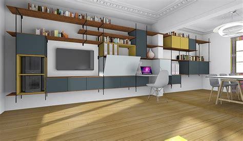 coin bureau dans salle à manger changer créer des rangements et un bureau dans un salon