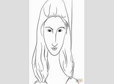 Jeanne Hebuterne by Amedeo Modigliani coloring page Free