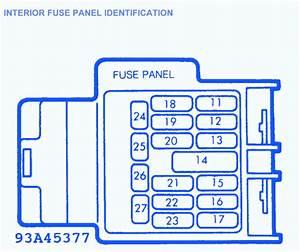 Mazda Miata Mx 5 1996 Interior Fuse Box  Block Circuit