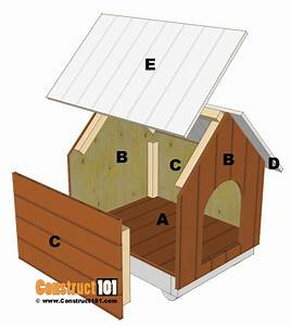 Small dog house plans step by step construct101 for Small dog house plans