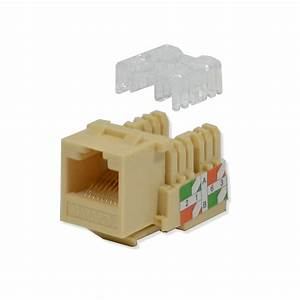 25 Pack Lot Keystone Jack Cat6 Ivory Network Ethernet 110 Punchdown 8p8c Rj45