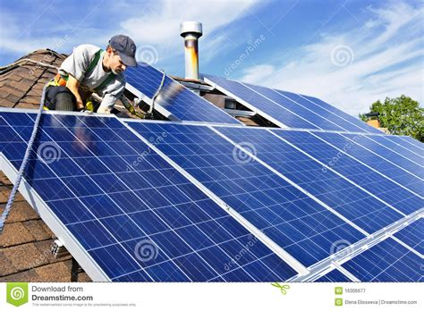 Resume Solar Panel Installer by Solar Panel Installation Royalty Free Stock Photography Image 16306677