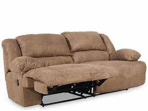 Contemporary microfiber 96quot reclining sofa in mocha for Couch und sofa fürth