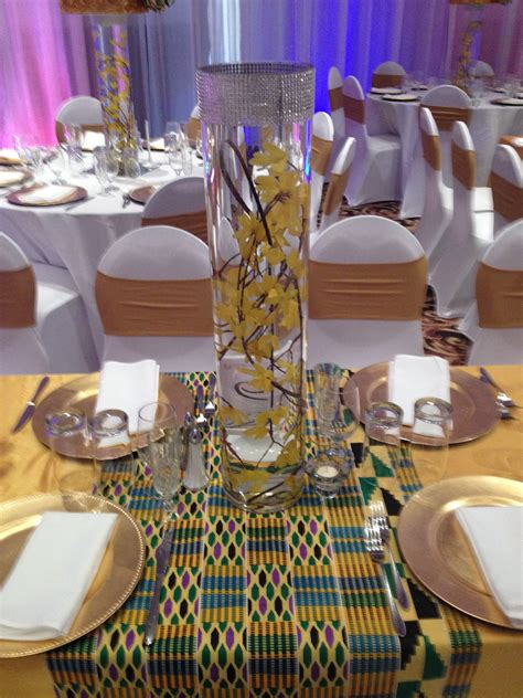 african pattern table setting theme de mariage africain